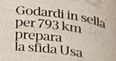 Paolo Godardi si prepara per la sfida USA con un ottimo quinto posto alla Race Across Italy